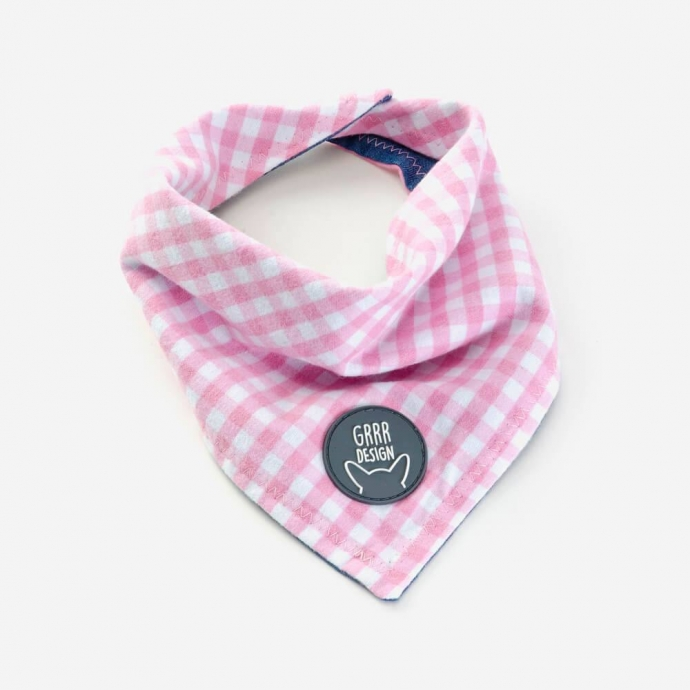 Double-sided bandana, pink
