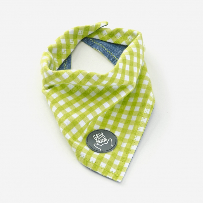 Double-sided bandana, green
