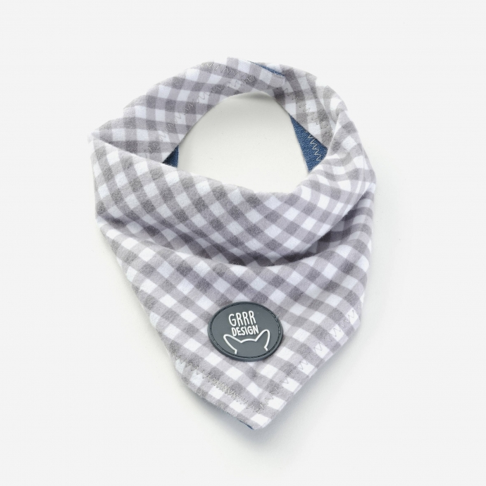 Double-side bandana, gray
