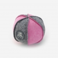 Dog toy. Gray and pink ball.